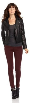BCBGMAXAZRIA Women's Brittany Leather Jacket