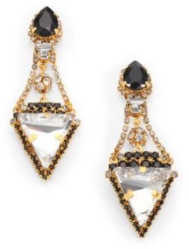 Erickson Beamon Envy Velocity Crystal Drop Earrings
