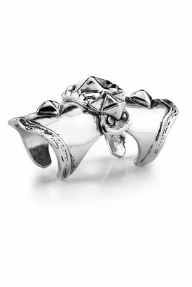Low Luv by Erin Wasson Armour Knuckle Ring in Silver
