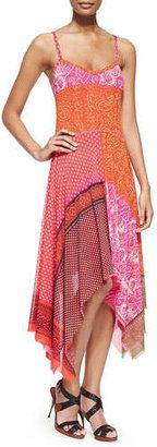Jean Paul Gaultier Patchwork Handkerchief Slip Dress $525 thestylecure.com