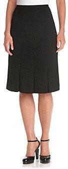 Kasper Inverted-Pleat Skirt