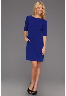 Tahari by Arthur S. Levine Tahari by ASL - 3/4 Sleeve Bistretch Shift (Cobalt) - Apparel