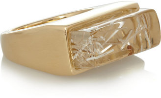 Chloé Bettina gold-tone resin necklace