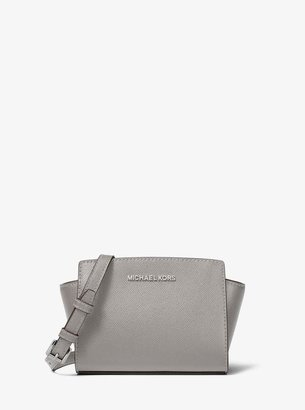 ec1bddd0e67565 MICHAEL Michael Kors Gray Leather Crossbody Handbags - ShopStyle