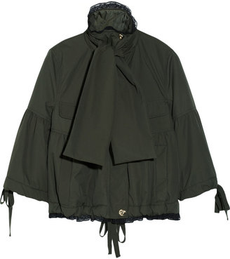 RED Valentino Lace-trimmed shell anorak
