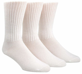 Calvin Klein Men Cotton Rich Casual Rib Crew Socks, 3-Pack