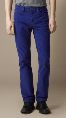 Burberry Slim Fit Corduroy Trousers
