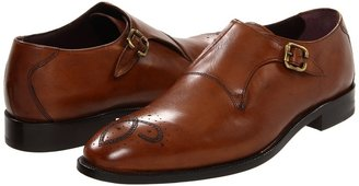 Johnston & Murphy Carlock Buckle Strap (Tan Italian Calfskin) - Footwear