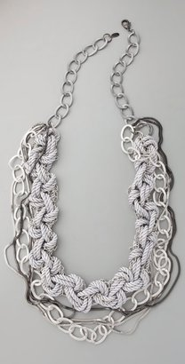 Adia Kibur Braided Multi Chain Necklace