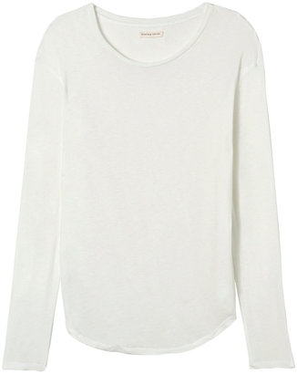 Rebecca Taylor Long Sleeve Solid Jersey Tee