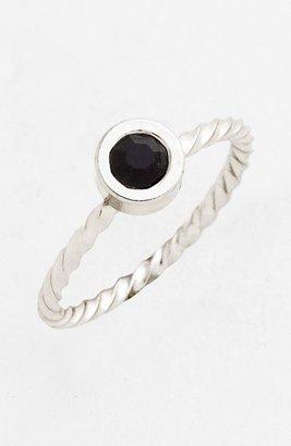BP Small Stone Midi Ring Black One Size