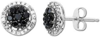 Lord & Taylor Black Diamond Earrings in 14 Kt. White Gold Black, 0.5 ct. t.w.