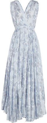 Band Of Outsiders Floral-print silk maxi dress