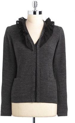 T Tahari Carolanne Ruffled Sweater