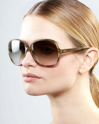 Oliver Peoples AERIN Isobel Sunglasses, Green
