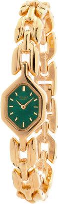 Pulsar Vintage by Seiko Green/Gold Ladies' Chain Link Watch