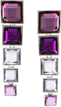 Asos Articulated Gem Square Drop Earrings