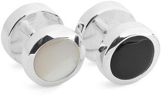 Turnbull & Asser Silver-Tone, Pearl And Onyx Shirt Studs