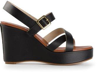Chloé platform wedge sandals