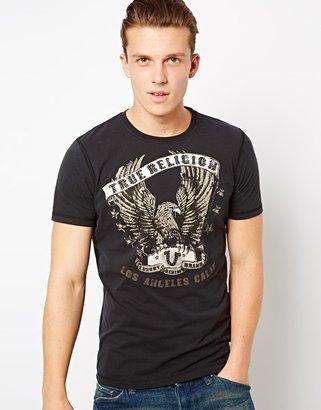True Religion T-shirt Eagle Wings Logo