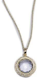Ippolita Lollipop Clear Quartz, Diamond & 18K Yellow Gold Mini Pendant Necklace