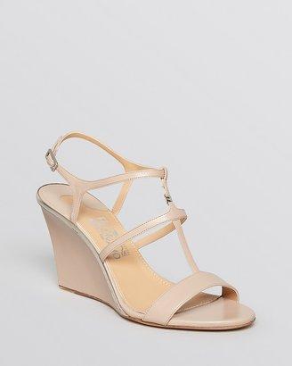 Salvatore Ferragamo Open Toe Wedge Sandals - Pakuna
