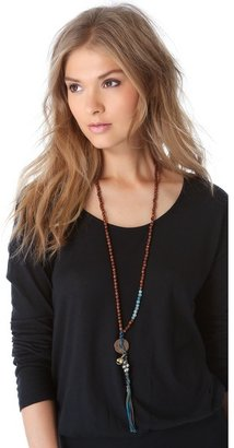 Chan Luu Beaded Lariat Necklace