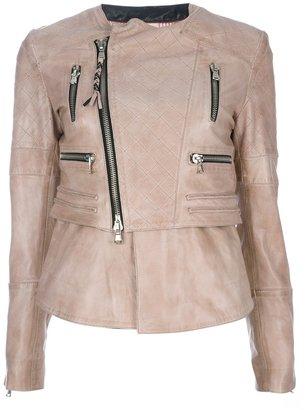 Le Sentier leather biker jacket