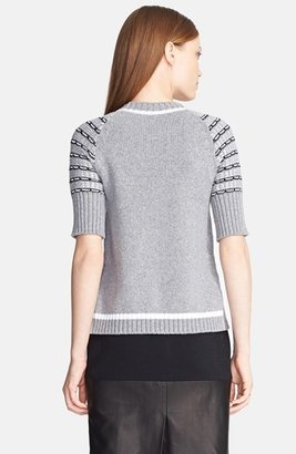 Prabal Gurung Grid Knit Sweater