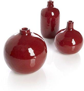 Crate & Barrel 3-Piece Scarlett Mini Vase Set: one of each design.