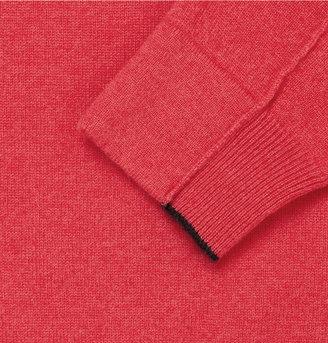 Façonnable Zip-Collar Cashmere Sweater