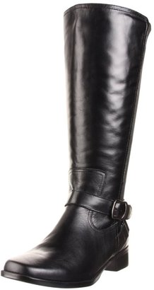 Fitzwell Women's Mentor Wide Calf Boot,Black Burnished Leather,12 WW US