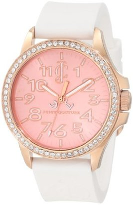 Juicy Couture Women's 1900963 Jetsetter White Silicone Strap Watch $189 thestylecure.com