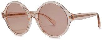 Celine Light Pink Round-frame Sunglasses