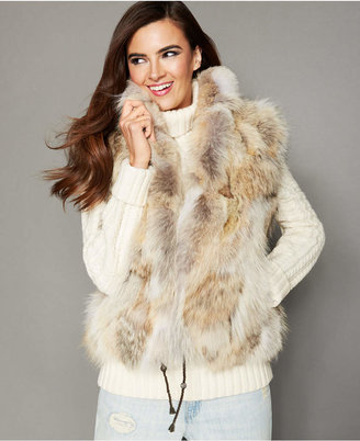 The Fur Vault Natural Coyote Fur Vest $1,495 thestylecure.com