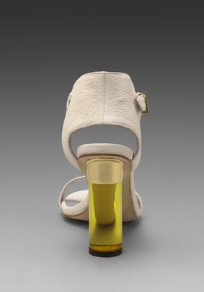 Senso Sasha Heel in White/Gold
