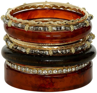 Arden B Mixed Tortoise Bangle Set
