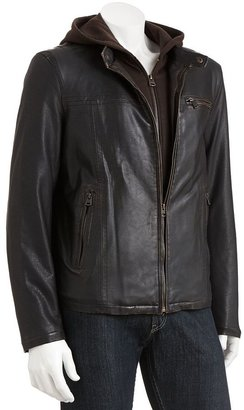 Levi's faux-leather sherpa-lined hooded jacket - men