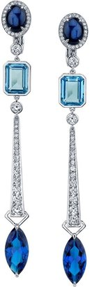 Swarovski Azure Blue Drop Earrings 18k White Gold