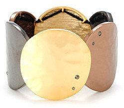 Kenneth Cole Tri-Tone Circle Stretch Bracelet