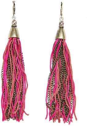 MANGO TOUCH - Tassel earrings