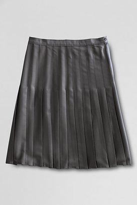 Lands' End Women's Regular Solid Pleated Skirt