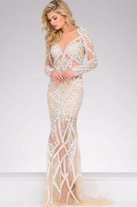 Jovani - Long Embellished Pageant Dress 32202 $1,500 thestylecure.com