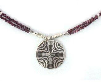 Novica Artisan-Crafted Sterling Garnet Necklace