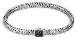John Hardy Classic Chain Black Sapphire & Sterling Silver Bracelet