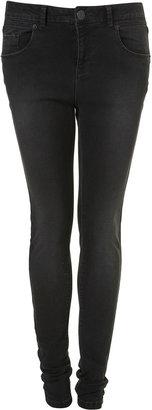 Topshop MOTO Slate Black Jamie Jeans