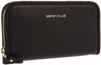 See by Chloe April Long Wallet,Black,One Size