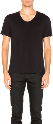 T by Alexander Wang Pima Cotton Low Neck Tee $74 thestylecure.com