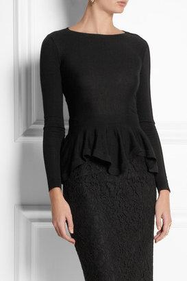 Alexander McQueen Wool peplum sweater
