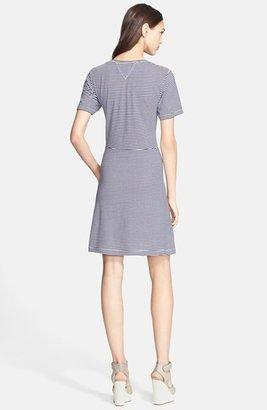 Theory 'Kalix Cherry' Cotton T-Shirt Dress